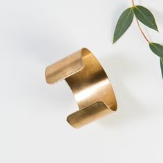 wide brass cuff brac