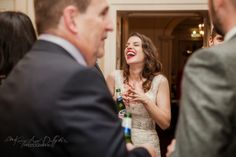 www.kerryannduffy.com Bradbourne House Wedding, bride with red lips, kent wedding venues, bride with marcel waves, natural wedding photos, weddings in kent