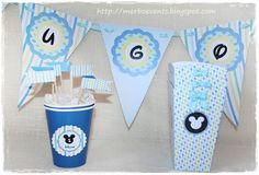 Flags Kit imprimible Mickey mouse by Merbo Events by Merbo Events, via Flickr
