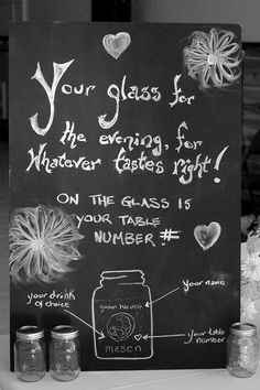 Mason jar glass for the evening
