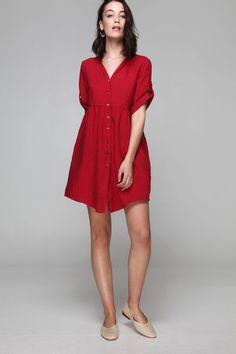 PLS fashion : Πουκαμίσα λινή (884) Linen Dresses, Casual, Fashion, Moda, Fashion Styles, Fashion Illustrations