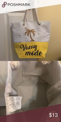 171cddd4f NWOT beach bag 🌴 Super cute for the beach or pool! Rope handles, canvas