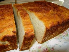 Coconut Pound Cake (can be made as orange pound cake, replacind, coconut milk for orange juice and coconut extract for 2 tsp of orange peel
