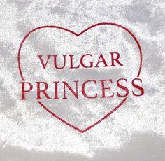 Red Vulgar Princess Velvet Crop Tee