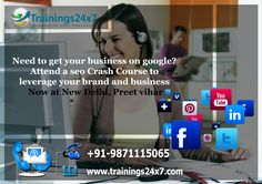 WHY SHOULD JOIN TRAININGS24X7? Demo Available 100% Practical Training Training only by PPC Certified and working professionals (we do not compromise with quality) Focus on providing knowledge with real life case studies. (To make you understand better) Flexible Batches In-Class Training Affordable FEES Job Newsletter into your inbox Training Material Live Project Course Completion Certificate  Visit Page: http://trainings24x7.com/digital-marketing-training-delhi-ncr/