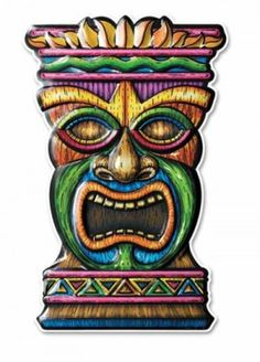 "Beistle Company // Tiki Face Mold Decoration | 17"" - $2.53"