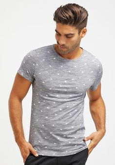 6bd0173be5860f Print T-shirt - navy white   Zalando.co.uk 🛒