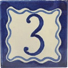 Street numbers from Mexico handmade of talavera tiles look great on the house exterior. They are decorative making locating a property easy. Painting Ceramic Tiles, Street House, House Numbers, Hand Painted Ceramics, Wall Tiles, Elegant, Hand Painted Pottery, Room Tiles, Classy