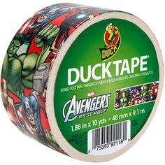 Duck Brand Marvel Avengers Tape (Now I know why MacGyver likes Duck Tape so much!)