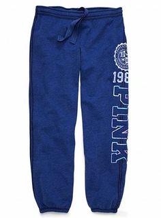 Victoria's Secret Blue Campus Sweatpants from PINK.