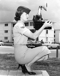 Air Force photographer at Eglin Air Force Base sometime between 1954 & 1958.