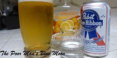 cheap beer + cheap triple sec = blue moonish flavor