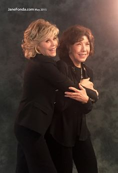 I absolutely adore this pic of Jane and Lily. I'm hoping to someday find my Lily/Ann Perkins/Ethel Mertz..........Plus Grace and Frankie is a great show!