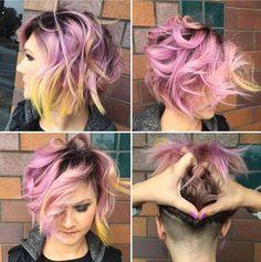 Messy, Layered Bob Hair Cuts - Shaved Hairstyles 2016