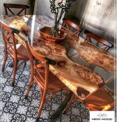 Úžasný pryskyřičný dřevěný stůl pro váš domácí nábytek 61