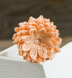 Crochet Flower PATTERN Dahlia Flower PDF by joyoustreasures