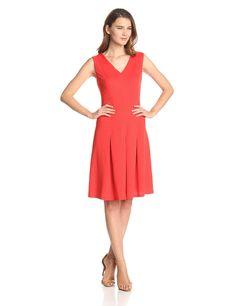 Topstitch Dress with Pleats by Nine West