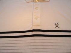 Nautica Polo Golf Mens Shirt XL Extra Large White Logo Short Sleeve Button EUC