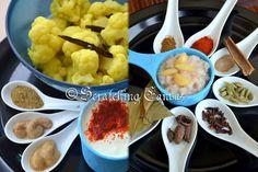 Ingredients for Cauliflower in Spicy Yogurt Curry
