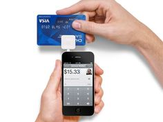 Square Credit Card Reader    Carrying cash is passe. Square, on the other hand, is plastic fantastiqué. The sleek little device plugs into your iPhone, iPad, iPod Touch, or Android, so you can accept payment from anyone via credit card. Just sign up, and the company ships you the card reader free