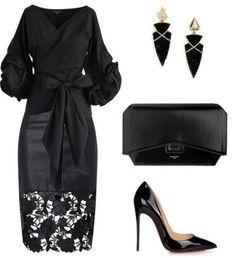 Dress nigth black chic for 2019 Trend Fashion, Look Fashion, Fashion Beauty, Autumn Fashion, Fashion Ideas, Feminine Fashion, Fashion Vest, Fashion Sandals, 50 Fashion