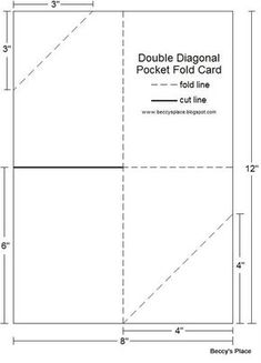 Fabric pocket templatepdf sewing ideas pinterest template diagonal double pocket card with tutorial pronofoot35fo Gallery