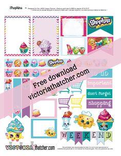 FREE Shopkins planner printable