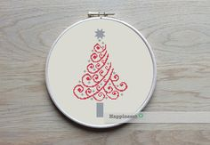 christmas cross stitch pattern, modern christmas tree, modern cross stitch, PDF, ** instant download**