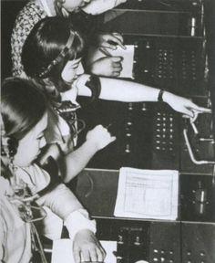 昭和6年、電話交換手。