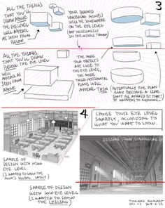 PS: pqxv tbfoa — A master post of Thomas Romain's art tutorials. Perspective Drawing Lessons, Perspective Art, 3d Drawing Techniques, Drawing Tips, Body Drawing, Drawing Reference, Thomas Romain, 3d Drawing Tutorial, Background Drawing