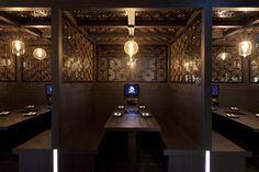 Booth seating Wagaya Japanese Restaurant by Vie Studio, Melbourne – Australia Club Design, Design Blog, Store Design, Design Ideas, Restaurant Booth, Restaurant Design, Bon Jovi, Commercial Design, Commercial Interiors