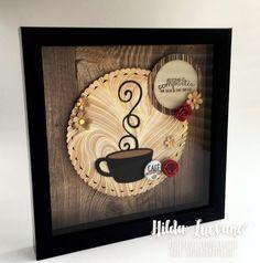 Hilda Designs: Shadow Box Café, sellos Latina Crafter