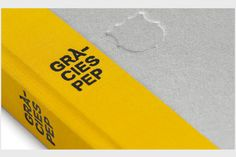Spanish design firm Zoo Studio gifted Barcelona manager Pep Guardiola this book, entitled Gràcies Pep