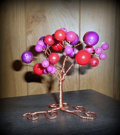 Fantasy bead and wire tree