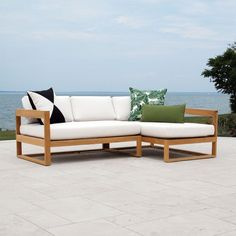 Create the perfect outdoor furniture seating solution with our teak sectional collection. From L to U Shaped-seating, teak patio sectionals can seat up to Outdoor Daybed, Teak Outdoor Furniture, Outdoor Lounge, Outdoor Sectional, Sofa Furniture, Furniture Projects, Sectional Sofa, Outdoor Decor, Patio