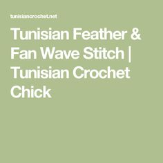 Tunisian Feather & Fan Wave Stitch | Tunisian Crochet Chick