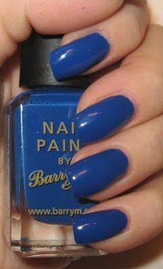nails:  blue nail polish