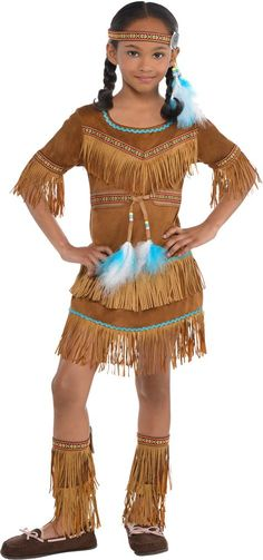 Toddler Girls Dream Catcher Cutie Native American Costume - Party City