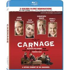 Carnage by Jodie Foster Kate Winslet Christoph Waltz John C. Reilly Elvis P Jodie Foster, Kate Winslet, Christoph Waltz, The Fosters, Clint Eastwood, Blade Runner, Carnage Movie, Taxi Driver 1976, Yasmina Reza