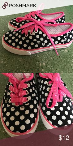 BRAND NEW POLKA DOT GIRLS SNEAKERS! These are brand new! Never have been worn! Cute polka dot design! Circo Shoes Sneakers