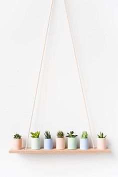 Pastel-painted concrete planters. For more, visit houseandleisure.co.za