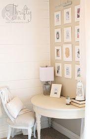 Cute office nook in living room