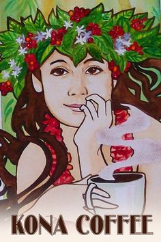 Hawaii Artist: Stephanie Bolton - Kona Coffee Posters