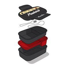 Mustard Rock & Roll Lunchbox - Legendärer Lunch-Verstärker - Geschenkideen für Frauen - (*Partner-Link)