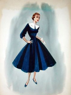 Edith Head sketch for Joan Crawford