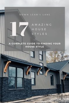 17 amazing house styles to give you a complete guide to finding your house style. Every wonder what your style is? I've compiled 17 traditional, modern, trendy and classic house styles together for you to figure out which is your favorite. French Country Exterior, Modern French Country, Modern Farmhouse Exterior, Modern Farmhouse Style, Farmhouse Contemporary, Craftsman Farmhouse, Home Architecture Styles, Australian Architecture, Tudor Style Homes