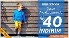 Minik ayaklar için dev indirim! Adidas çocuk ayakkabıları tam %40 indirimle Özdilek'te! http://ozdilekteyim.com/magaza/c/23267?specs=3571