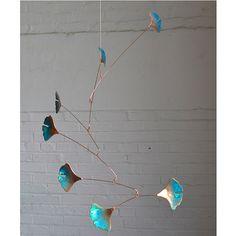 Blowing Leaves Copper Mobiles | Jay Jones, Calder mobile, sculpture, hanging art | UncommonGoods