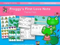 """""""Froggy's First Love Note"""" Theme Pack (from Teaching Preschoolers on TpT)"""