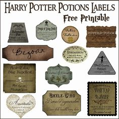 Harry Potter Bottle Labels craftytexan